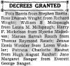 Actes/Rauhut/Zeitungen/Reno Evening Gazette (Reno, Nevada)/sm/1941-02-07 Decrees granted Patricia Charlotte Rauhut from Hugh August Rauhut 13-22.jpg