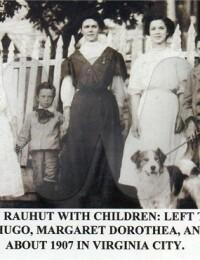 Actes/USA/Nevada/Virginia_City/1907 Susan May Rauhut & Hulda, Hugo, Margaret Dorothea, John Virginia City.jpg