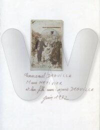 Emmanuel Deguille avec son épouse et sa fille, juin 1932, Poitiers ou environ.